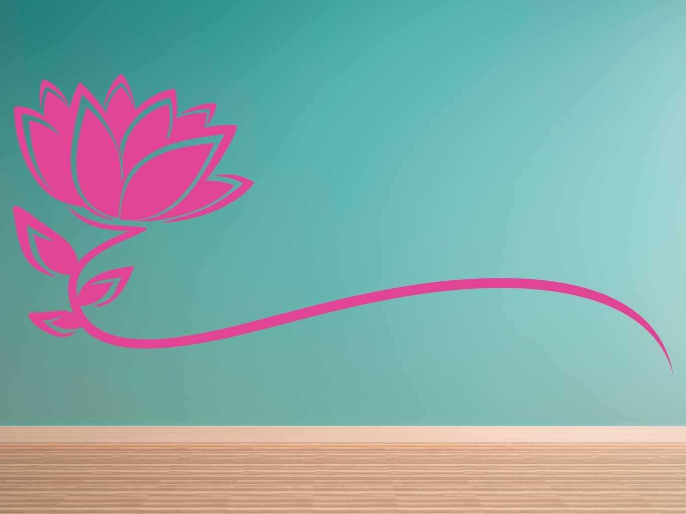 Vinilo decorativo flor rosa | Carteles XXL - Impresión carteleria publicitaria