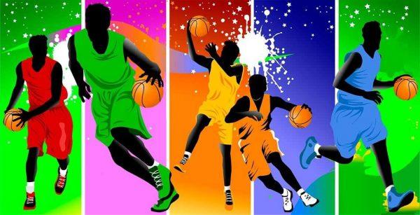 Vinilo Decorativo Baloncesto Color | Carteles XXL - Impresión carteleria publicitaria