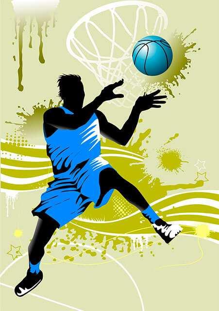 Vinilo Decorativo Jugador de Baloncesto | Carteles XXL - Impresión carteleria publicitaria