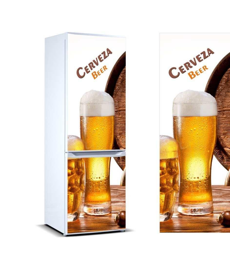 Vinilo Frigorífico Caña Cerveza   Carteles XXL - Impresión carteleria publicitaria