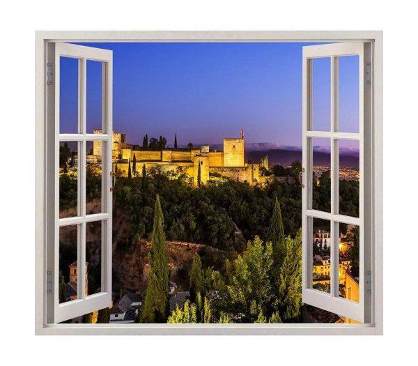 Vinilo Ventana Alhambra Granada | Carteles XXL - Impresión carteleria publicitaria