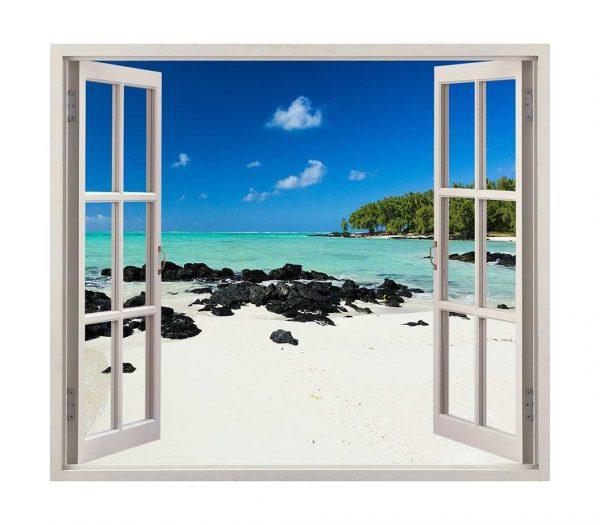 Vinilo Ventana Playa Caribe | Carteles XXL - Impresión carteleria publicitaria