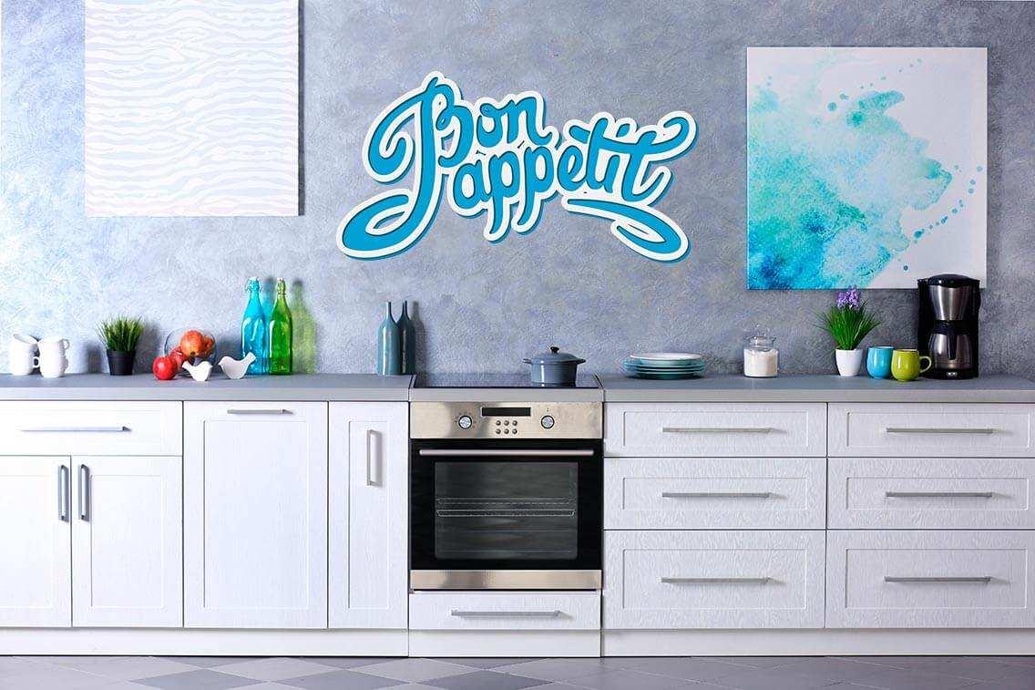 Vinilo Decorativo Cocina BonAppetit | Carteles XXL - Impresión carteleria publicitaria