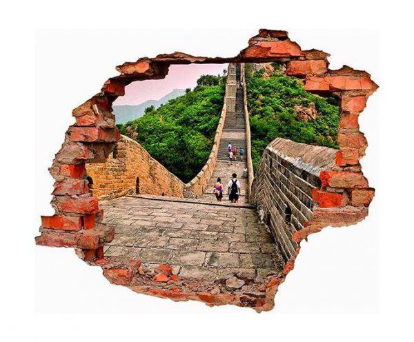 Vinilo 3D Muralla China | Carteles XXL - Impresión carteleria publicitaria
