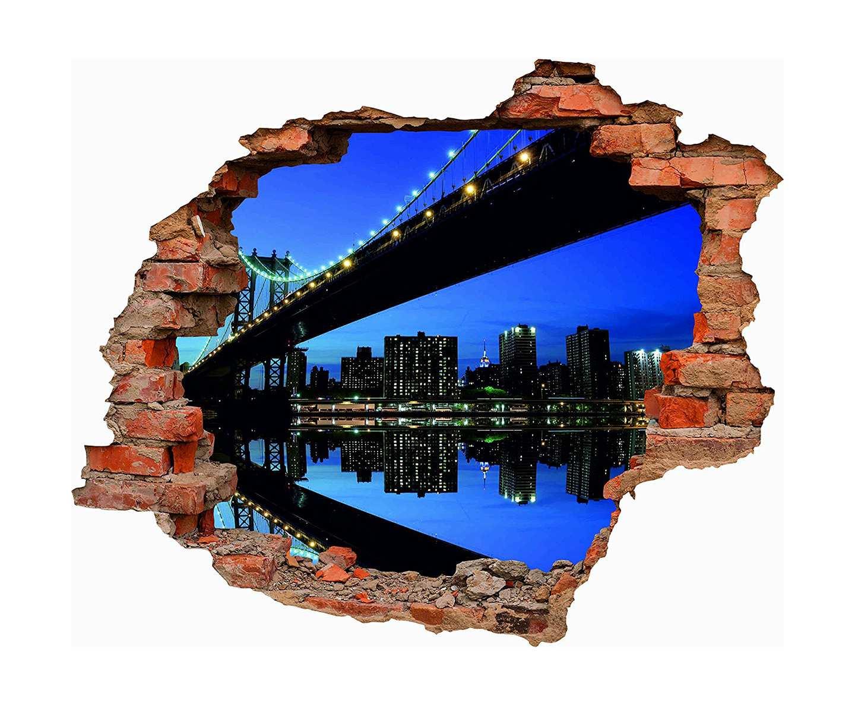 Vinilo 3D Puente Brooklyn | Carteles XXL - Impresión carteleria publicitaria