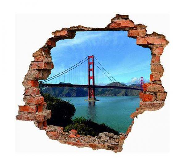 Vinilo 3D Golden Gate San Francisco | Carteles XXL - Impresión carteleria publicitaria