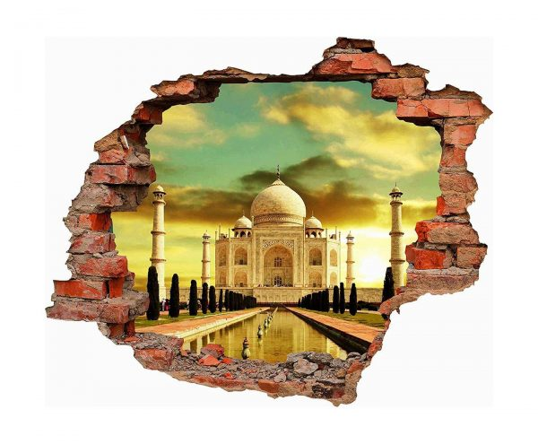 Vinilo 3D Palacio Taj Mahal | Carteles XXL - Impresión carteleria publicitaria