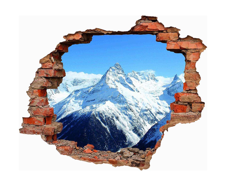 Vinilo 3D Montañas Nevadas   Carteles XXL - Impresión carteleria publicitaria