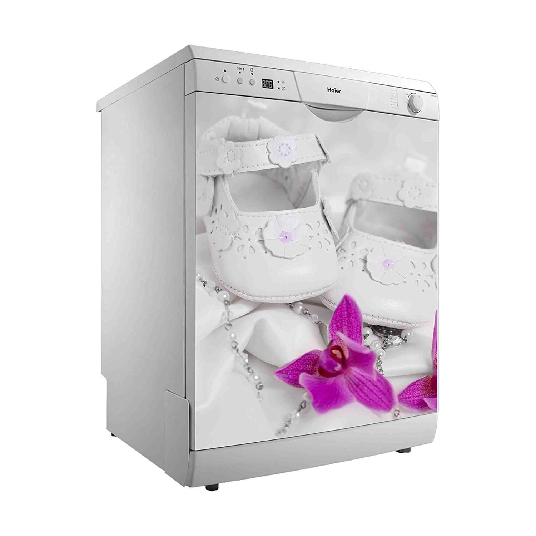 Vinilo Decorativo para Lavavajillas Zapatitos Blancos | Carteles XXL - Impresión carteleria publicitaria