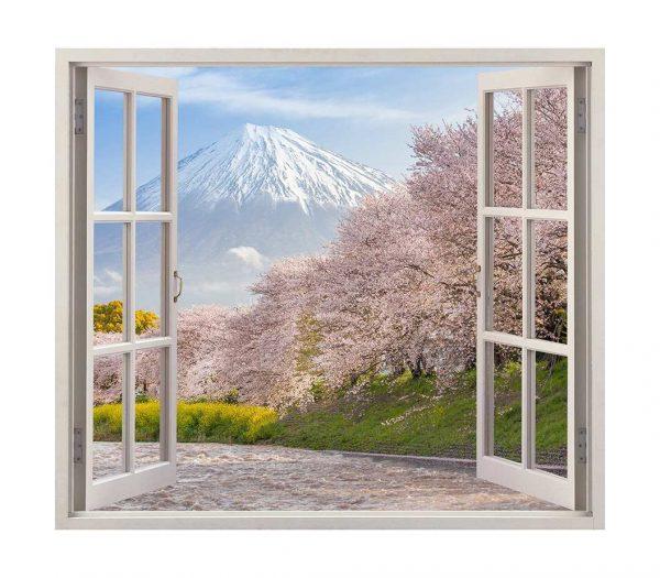 Vinilo Ventana Monte Fuji   Carteles XXL - Impresión carteleria publicitaria