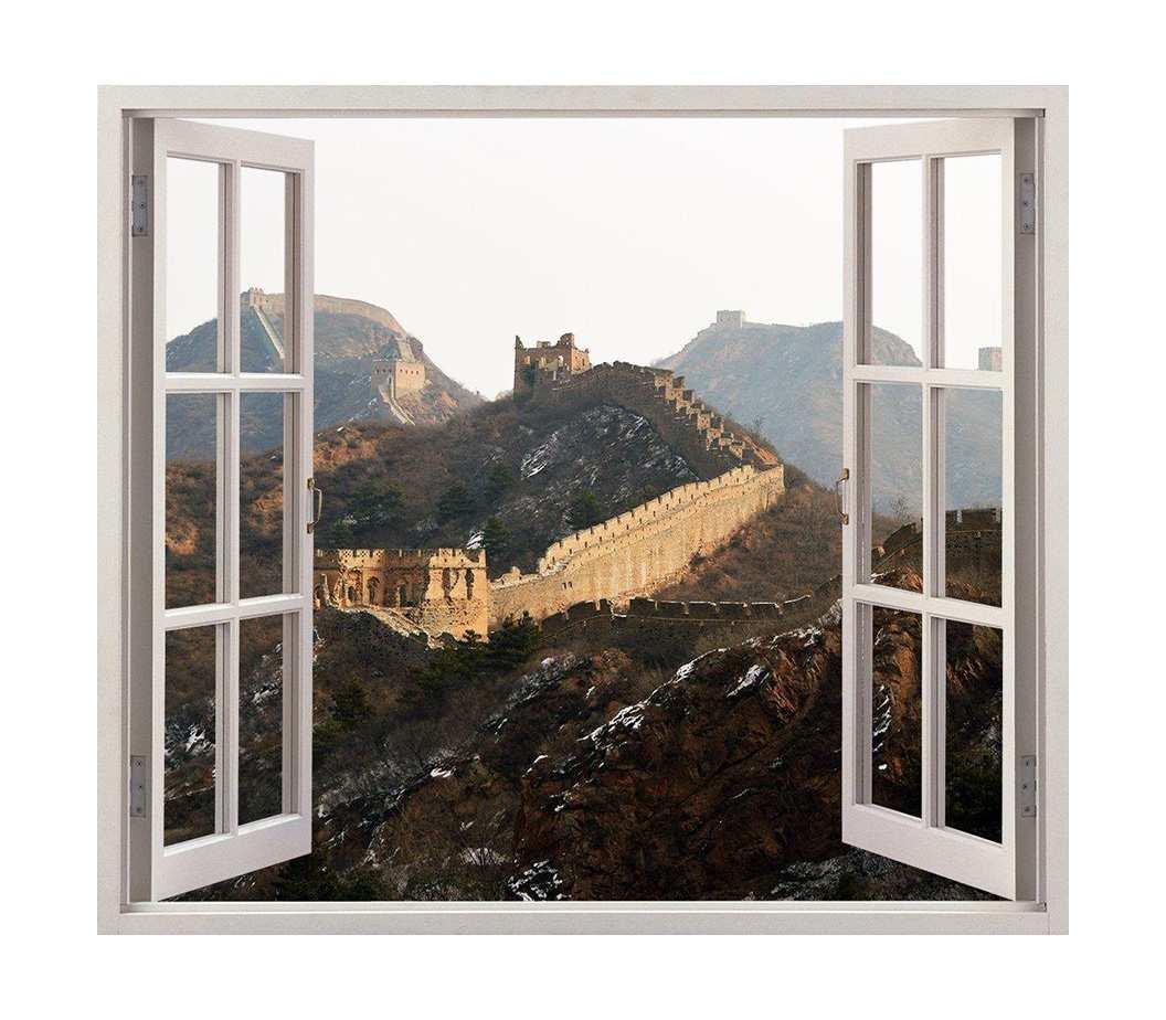 Vinilo Decorativo Ventana Muralla China | Carteles XXL - Impresión carteleria publicitaria