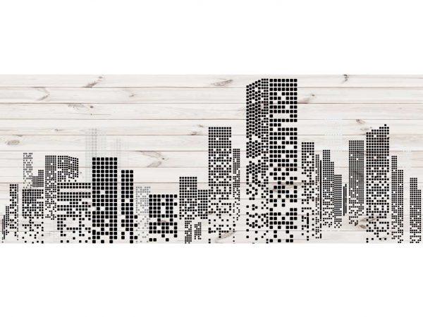 Cabecero Cama Edificios Pixelados | Carteles XXL - Impresión carteleria publicitaria