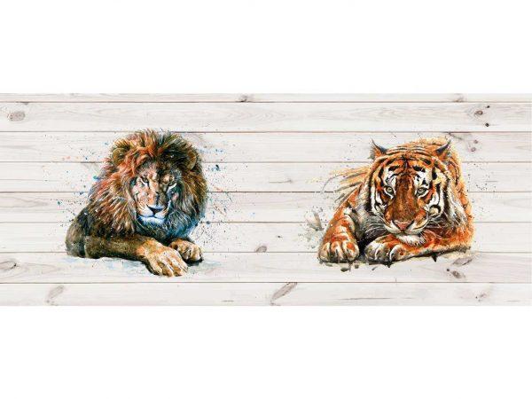 Cabecero Cama Tigre y León | Carteles XXL - Impresión carteleria publicitaria