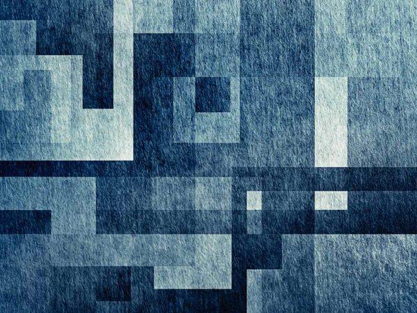 Alfombra PVC Abstracción Cuadrada Azul | Carteles XXL - Impresión carteleria publicitaria
