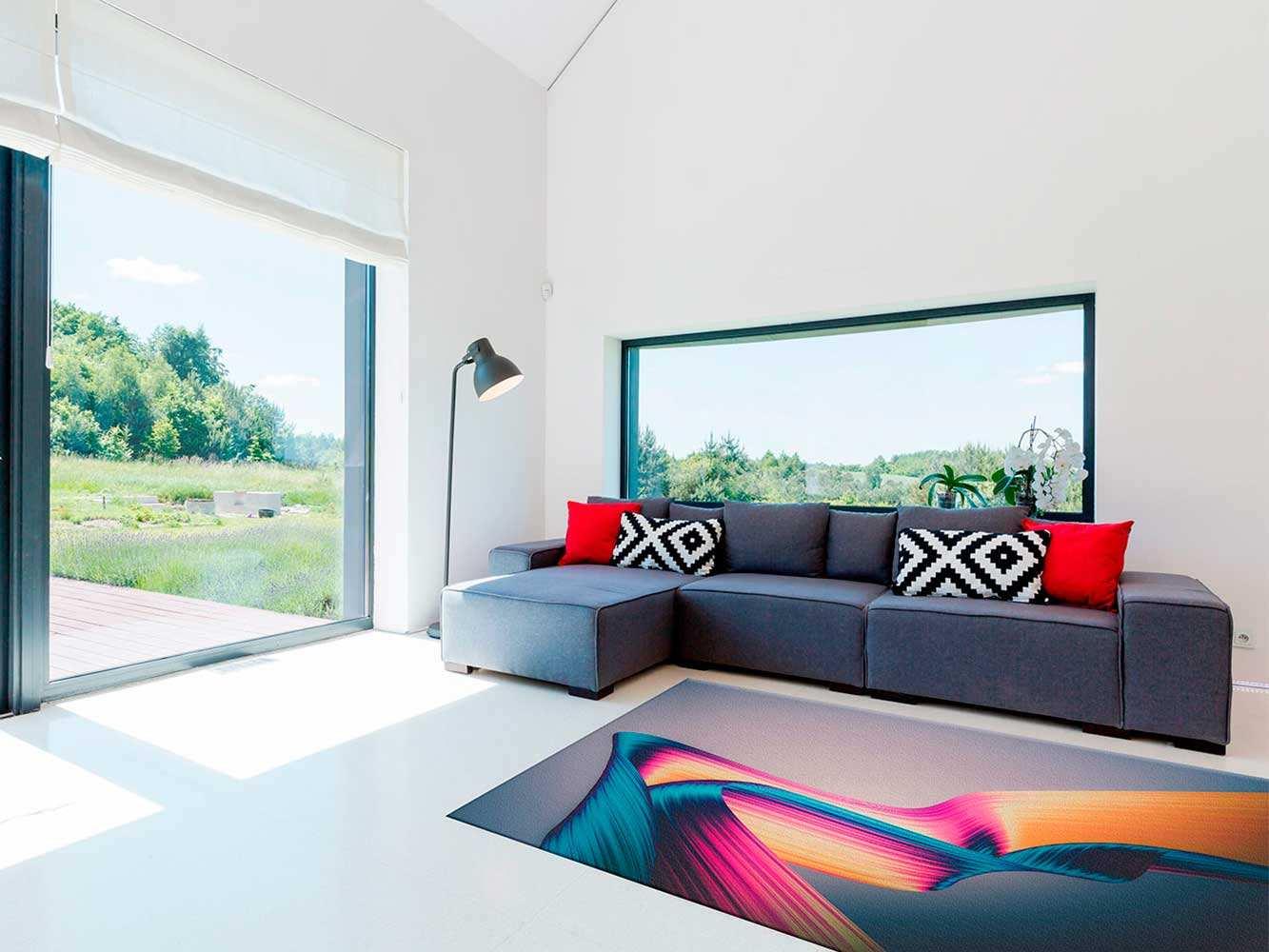 Alfombra PVC Abstracta Líneas Colores | Carteles XXL - Impresión carteleria publicitaria