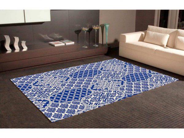 Alfombra PVC Arte Ornamental Azul | Carteles XXL - Impresión carteleria publicitaria