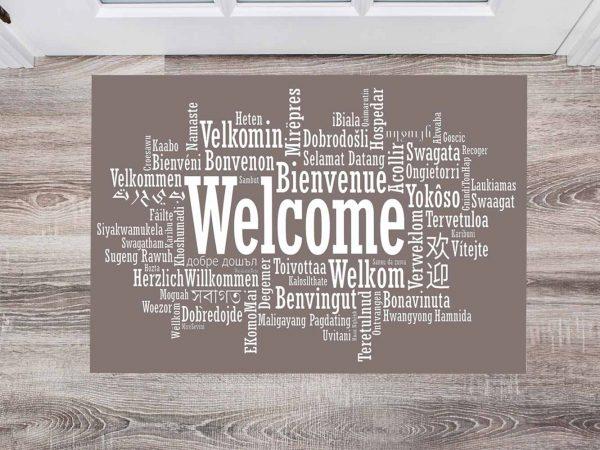 Alfombra PVC Bienvenidos Idiomas   Carteles XXL - Impresión carteleria publicitaria