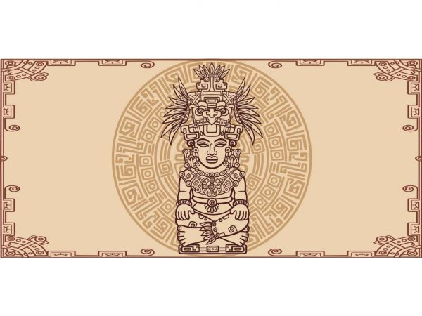 Alfombra PVC Estatua Azteca   Carteles XXL - Impresión carteleria publicitaria