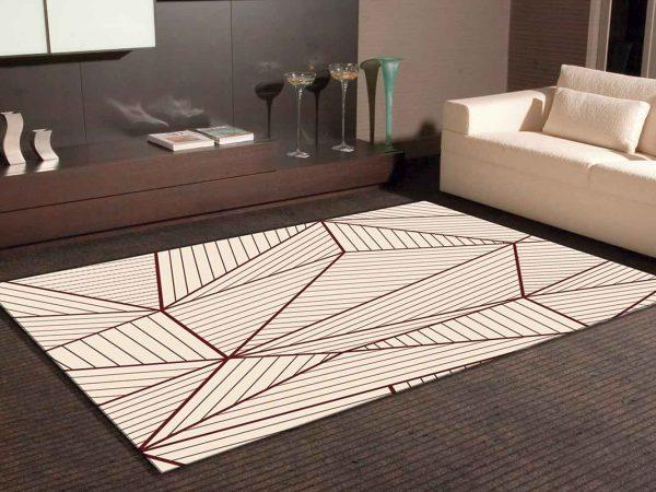 Alfombra PVC Geometría Abstracta Beige | Carteles XXL - Impresión carteleria publicitaria