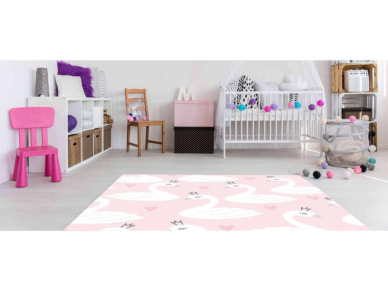 Alfombra PVC Infantil Cisnes Coronas   Carteles XXL - Impresión carteleria publicitaria