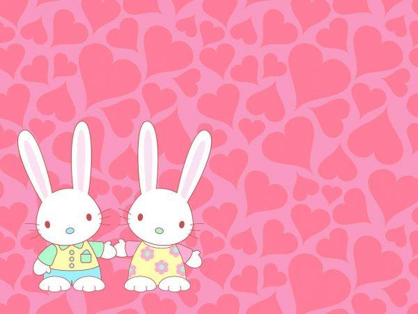 Alfombra PVC Infantil Conejos Corazones | Carteles XXL - Impresión carteleria publicitaria