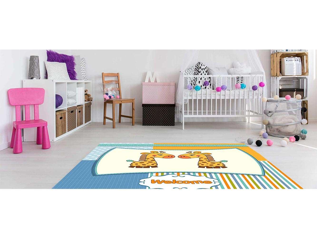 Alfombra PVC Infantil Jirafas Welcome | Carteles XXL - Impresión carteleria publicitaria