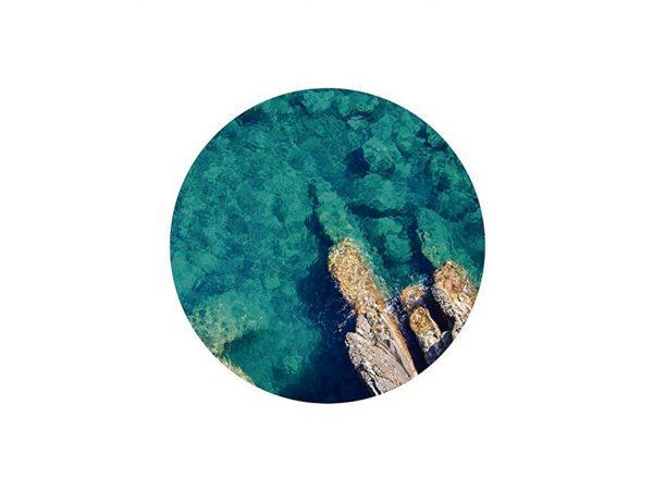 Alfombra Redonda Arrecife Marino Cenital | Carteles XXL - Impresión carteleria publicitaria