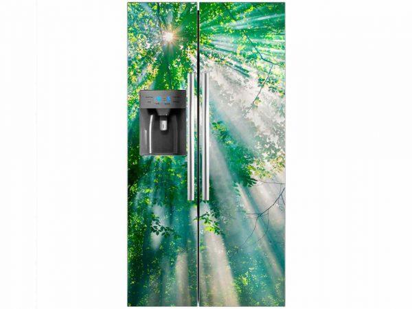 Vinilo Frigorífico Árbol Iluminado | Carteles XXL - Impresión carteleria publicitaria
