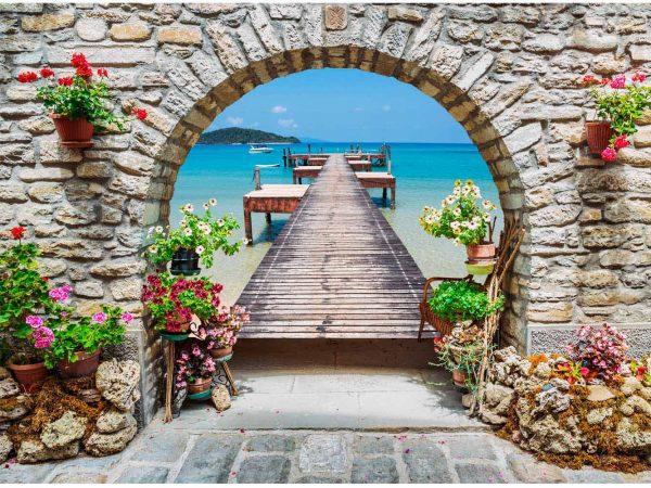 Vinilo Frigorífico Arco Playa | Carteles XXL - Impresión carteleria publicitaria