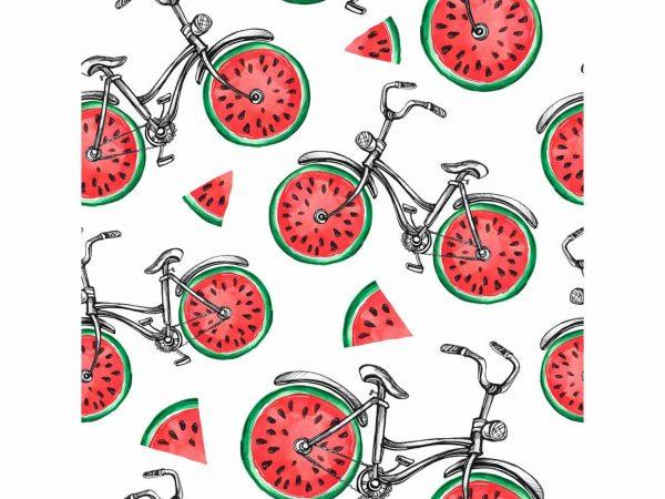 Vinilo Frigorífico Bicicleta Sandía | Carteles XXL - Impresión carteleria publicitaria