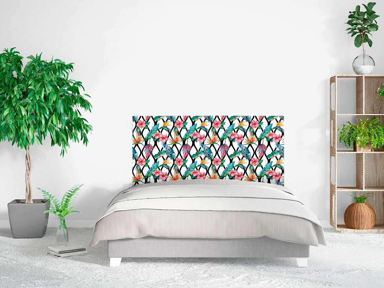 Cabecero Cama Arte Floral Multicolor | Carteles XXL - Impresión carteleria publicitaria
