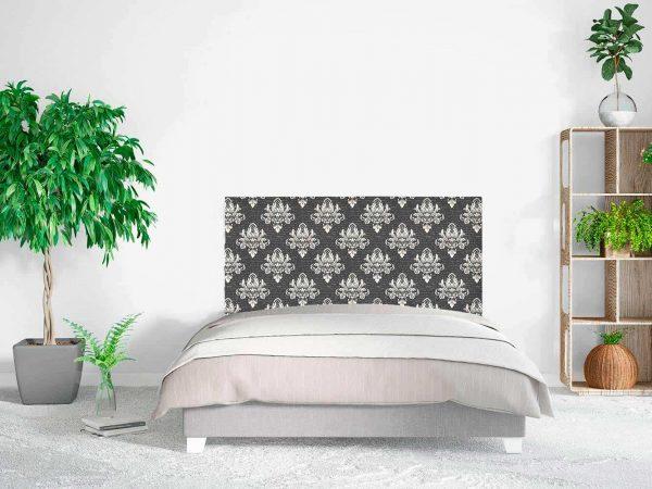 Cabecero Cama Damasco Floral Negro | Carteles XXL - Impresión carteleria publicitaria