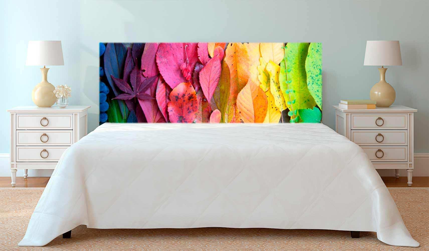 Cabecero Cama Hojas Escala Color | Carteles XXL - Impresión carteleria publicitaria