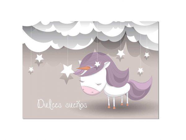 Cabecero Cama Infantil Dulces Sueños Unicornio   Carteles XXL - Impresión carteleria publicitaria
