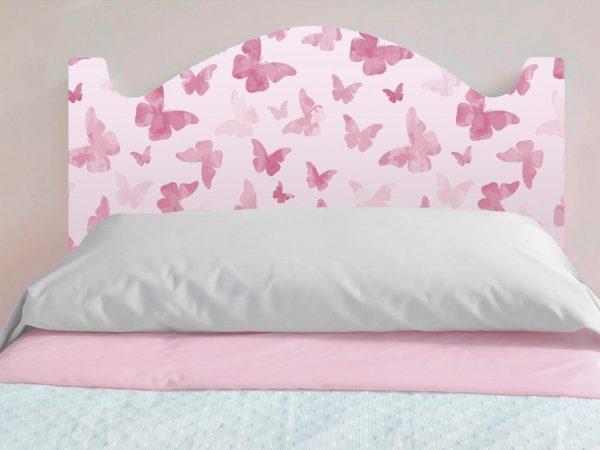 Cabecero Cama Infantil Mariposas Rosas | Carteles XXL - Impresión carteleria publicitaria