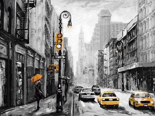 Cabecero Cama Paisajes New York Vintage | Carteles XXL - Impresión carteleria publicitaria