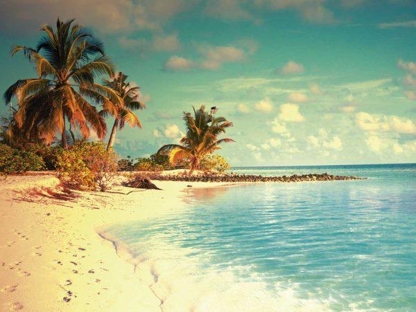 Cabecero Cama Paisajes Playa Maldivas | Carteles XXL - Impresión carteleria publicitaria