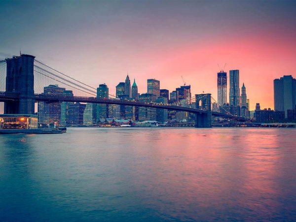 Cabecero Cama Puente Brooklyn Atardecer | Carteles XXL - Impresión carteleria publicitaria