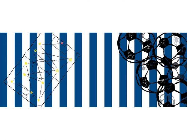 Cabecero Cama Fútbol Azul y Blanco   Carteles XXL - Impresión carteleria publicitaria