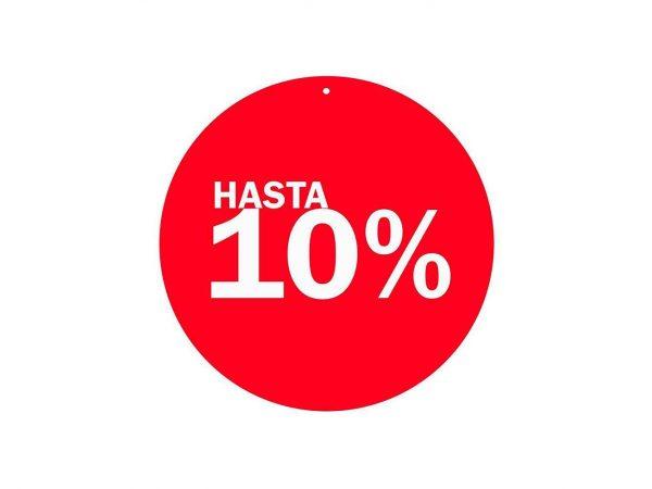 Vinilo Cartel Rebajas Descuento 10 % | Carteles XXL - Impresión carteleria publicitaria