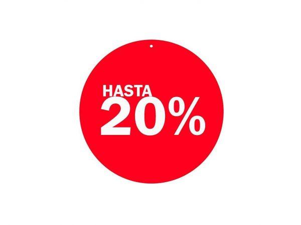 Vinilo Escaparate Cartel Rebajas Descuento 20 % | Carteles XXL - Impresión carteleria publicitaria
