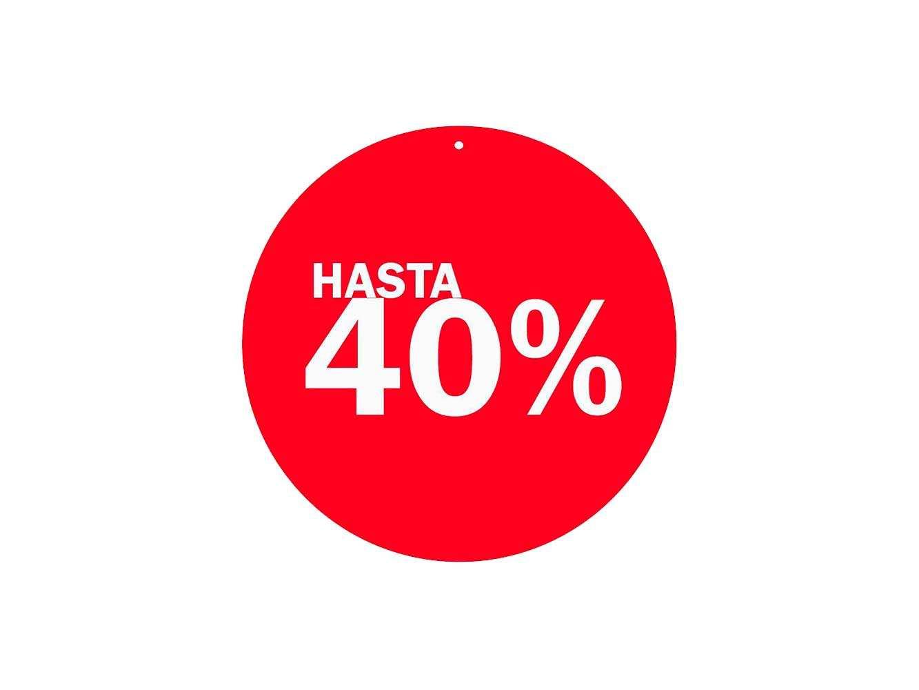 Vinilo Escaparate Cartel Rebajas Descuento 40 %   Carteles XXL - Impresión carteleria publicitaria