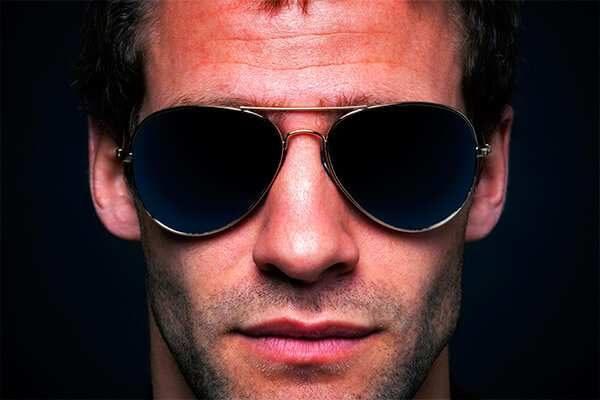 Cartel Ópticas chico con gafas de sol | Carteles XXL - Impresión carteleria publicitaria