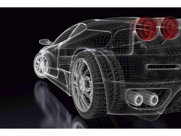 Fotomural Papel Pintado Coche 3D | Carteles XXL - Impresión carteleria publicitaria