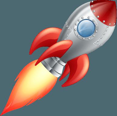 Vinilo decorativo cohete | Carteles XXL - Impresión carteleria publicitaria