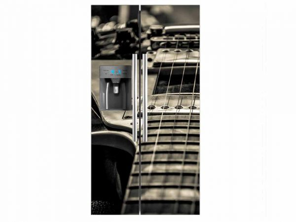 Vinilo Frigorífico Cuerdas Guitarra | Carteles XXL - Impresión carteleria publicitaria
