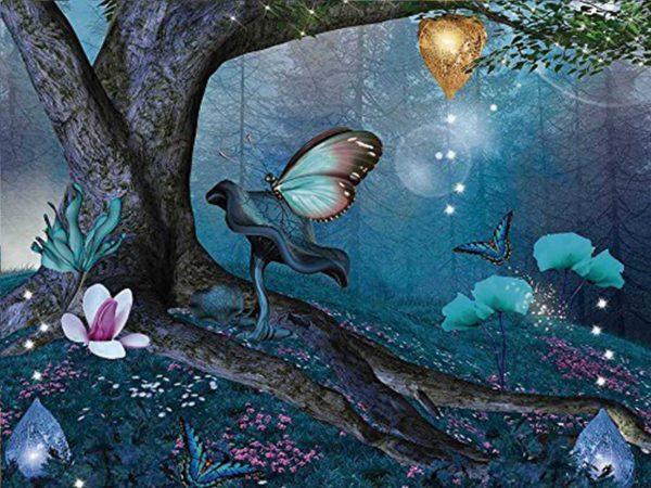 Fotomural Papel Pintado Fantasía Mariposas   Carteles XXL - Impresión carteleria publicitaria