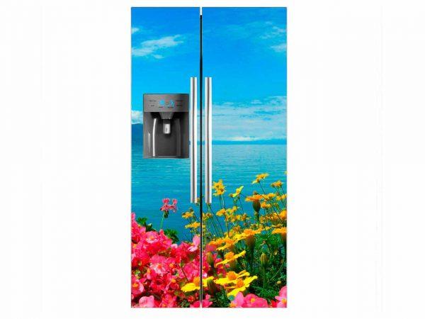 Vinilo Frigorífico Flores Mar | Carteles XXL - Impresión carteleria publicitaria