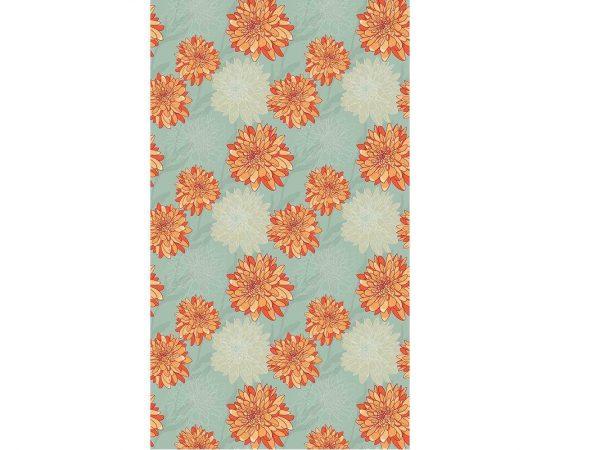Papel Pintado Flores Naranja | Carteles XXL - Impresión carteleria publicitaria