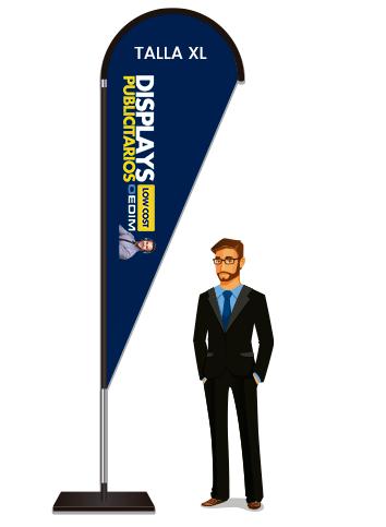 Fly Banner Tipo Gota Talla XL | Carteles XXL - Impresión carteleria publicitaria